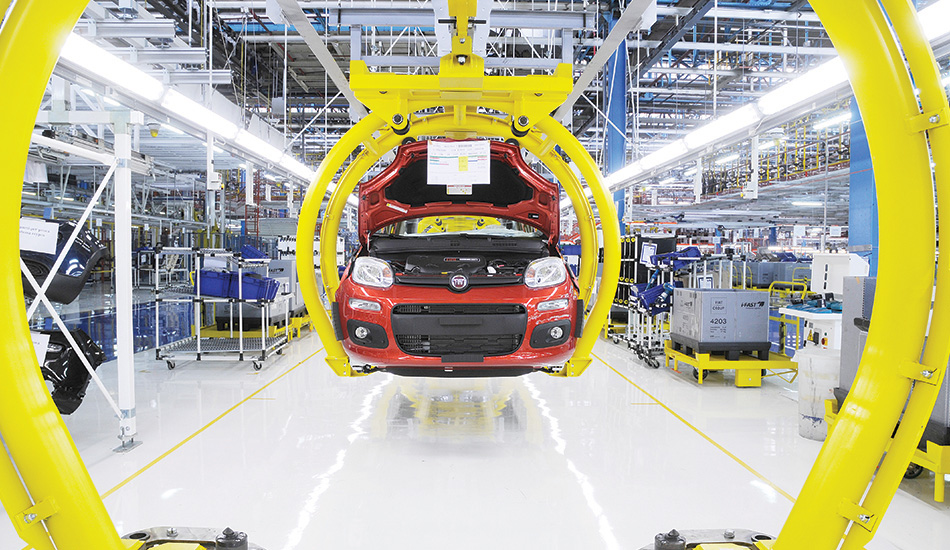 Fiat Panda in the assembly line