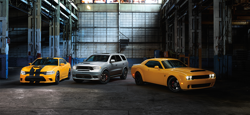 Different Dodge SRT vehicles