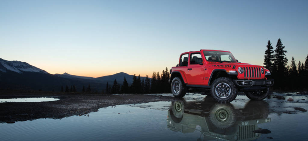 All New Jeep Gladiator Rubicon crossing a river