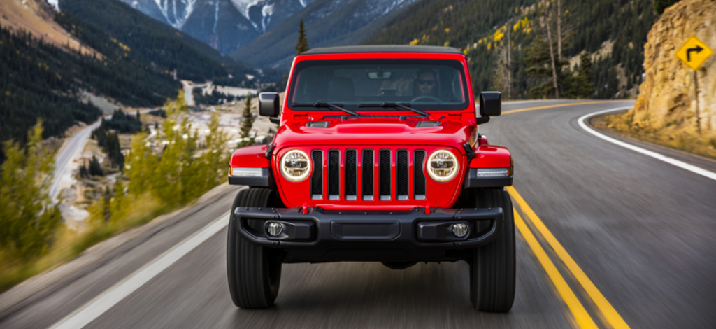 Jeep All New Wrangler on road