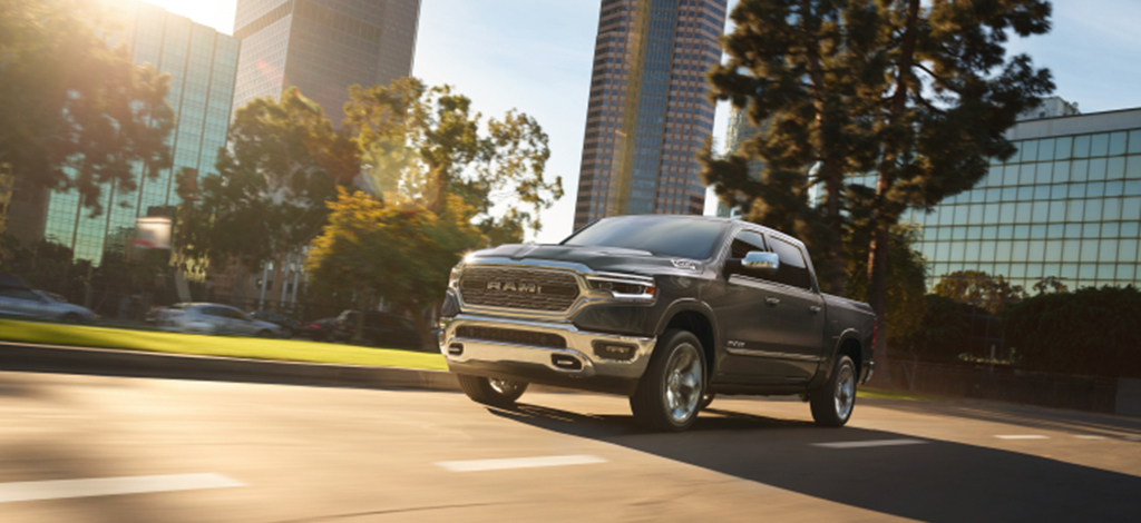 All New Ram 1500 on road
