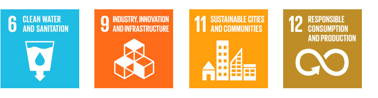 Sustainability Goals: 6 - Clean Water and Sanitation; 9 - Industry, Innovation and Infrastructure; 11 - Sustainable Cities and Communities; 12 - Responsible Consuption and Production