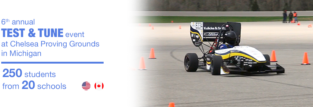 Infographic - 6th annual Test&Tune event at Chelsea Proving Grounds in Michigan: 250 students from 20 schools (U.S.A. and Canada)