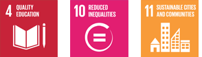 Sustainable Development Goals: 4. Quality Education; 10. Reduced Inequalities; 11. Sustainable cities & Communities