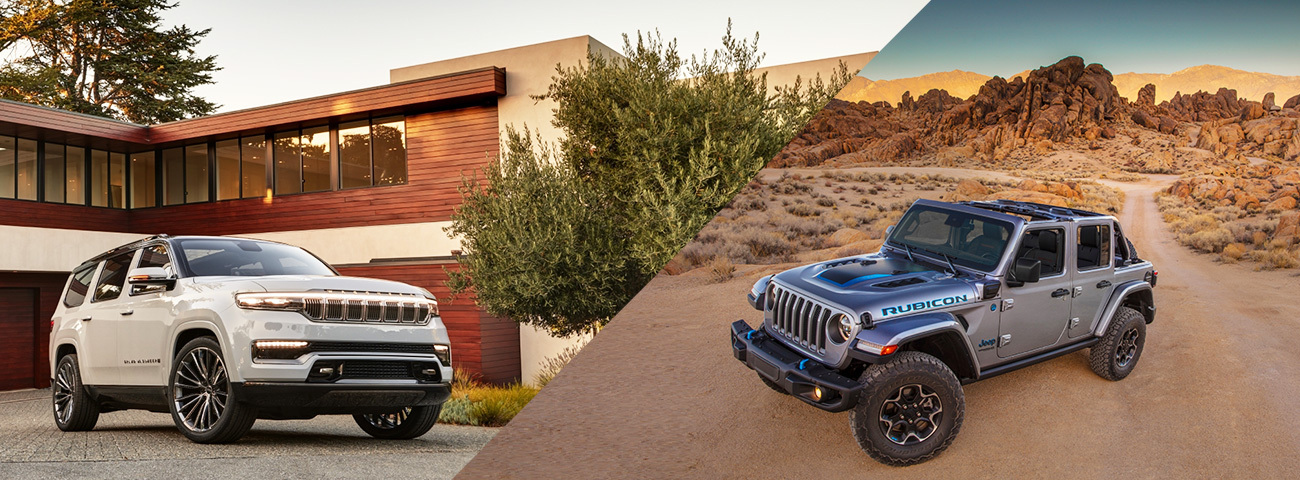 Grand Wagoneer and Wrangler 4xe