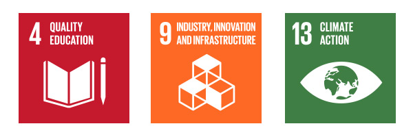 Sustainability Goals: 4 - Quality Education; 9 - Industry, Innovation, and Infrastructure; 13 - Climate Action
