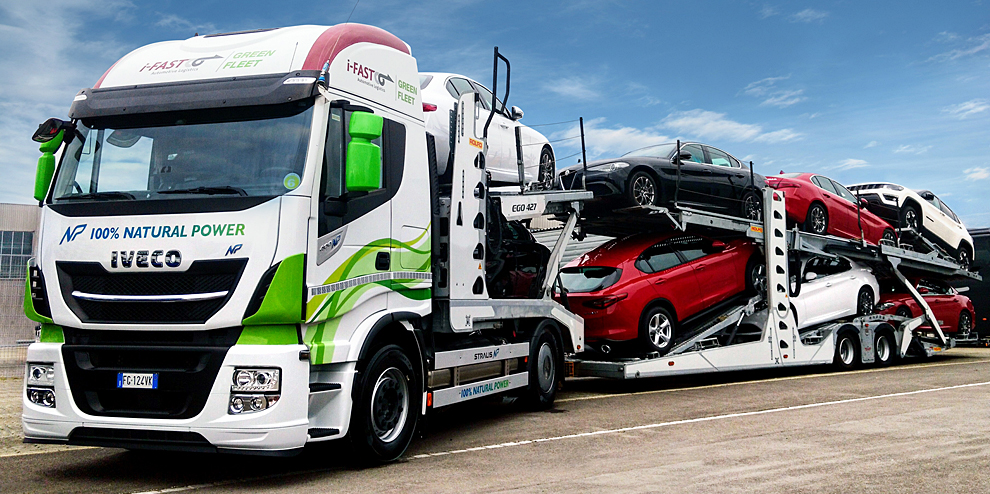 Green Logistic - truck and cars