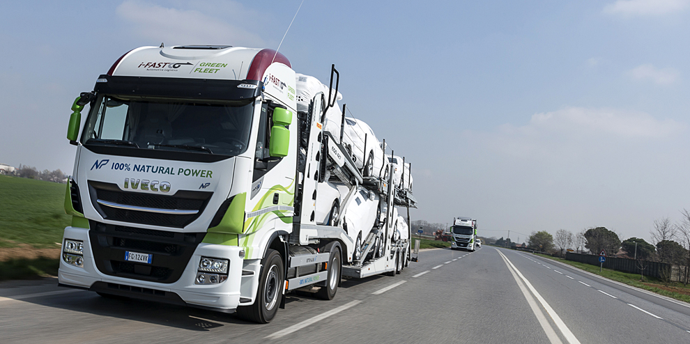 Green Logistic - trucks on the road