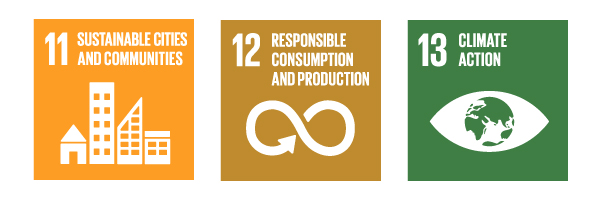 Sustainability Goals: 11- Sustainable Cities and Communities; 12- Responsible Consumption and Production; 13- Climate Action