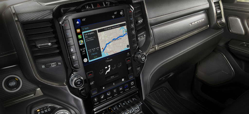2019 Ram 1500 Uconnect 4C with 12-inch screen